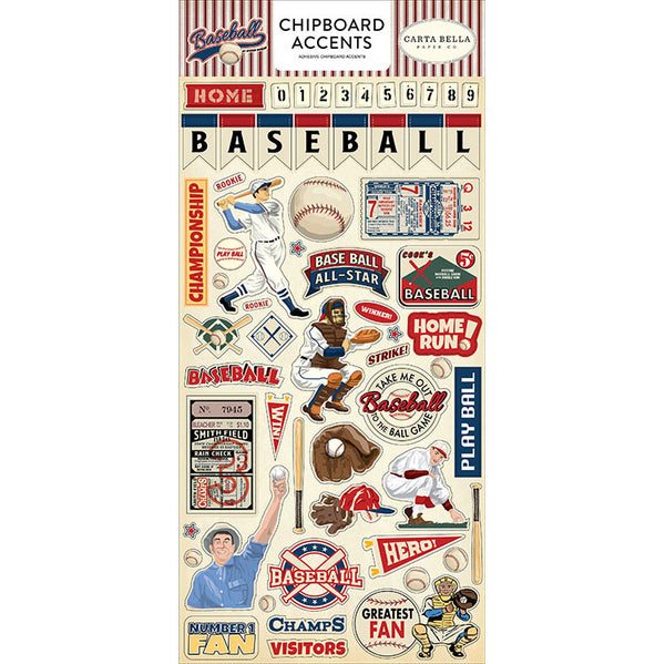 Carta Bella - Baseball - Chipboard Accents