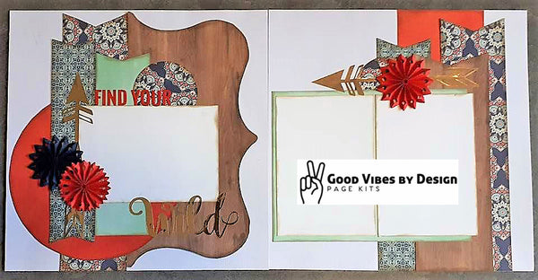 Good Vibes By Design - Find Your Wild - Page Kit