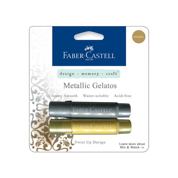 Faber-Castell - Gelatos - Metallic Gold/Sliver Mix & Match 2 pk