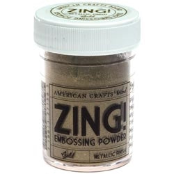 American Crafts - Zing! Embossing Powder - Metallic Finish - Gold