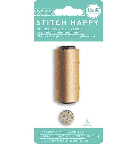 We R Memory Keepers - Stitch Happy - Thread - Metallic - Gold