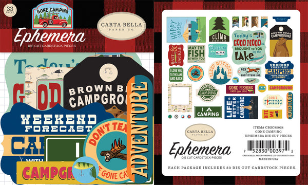 Carta Bella - Gone Camping - Ephemera pack