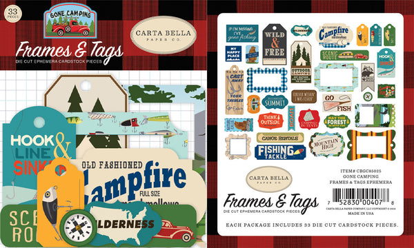 Carta Bella - Gone Camping - Frames & Tags pack