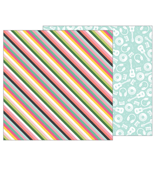 Pebbles - Girl Squad - Good Vibes pattern paper