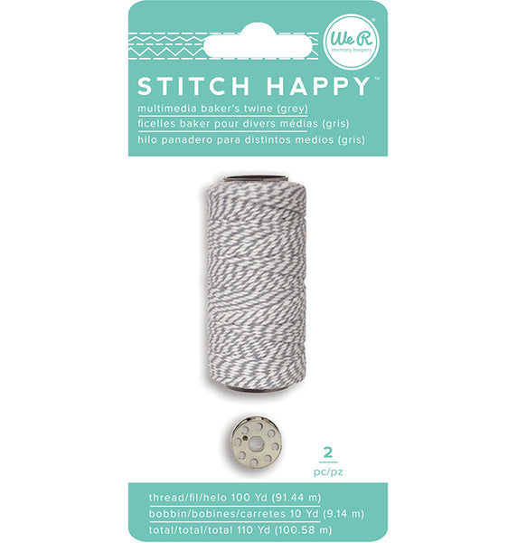We R Memory Keepers - Stitch Happy - Thread - Bakers Twine - Gray