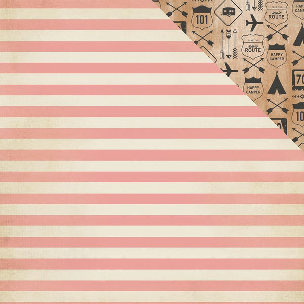 Crate Paper - Journey - Route double-sided pattern paper