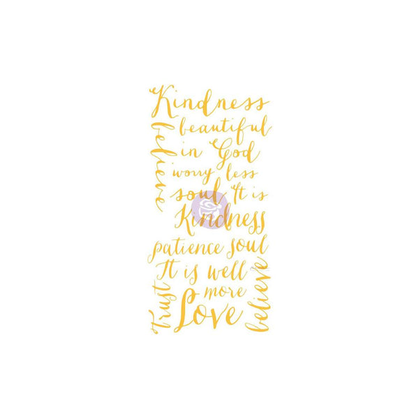 "Prima Marketing - Christine Adolph - Kindness Words - Adhesive Rub-Ons 5.5""X12"""