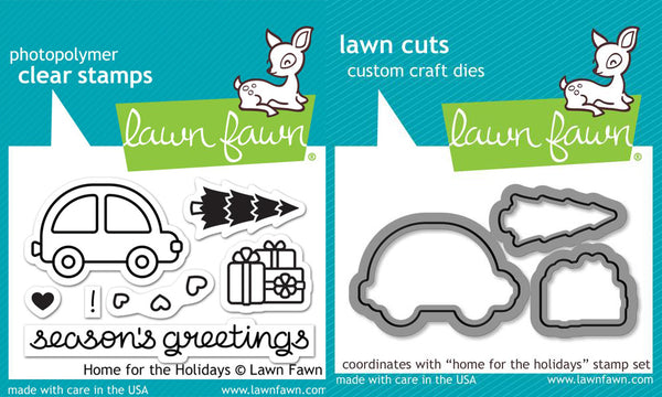 Lawn Fawn - Home for the Holidays - Stamp & Die Bundle