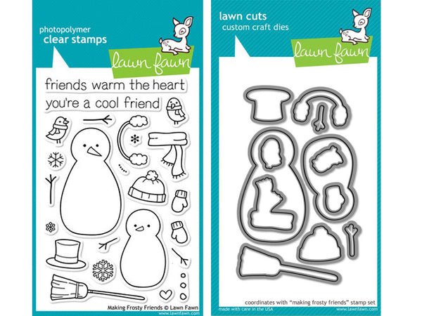 Lawn Fawn - Making Frosty Friends - Stamp & Die Bundle