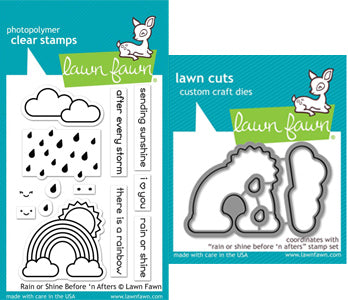 Lawn Fawn - Rain or Shine Before n Afters Stamp & Die Bundle