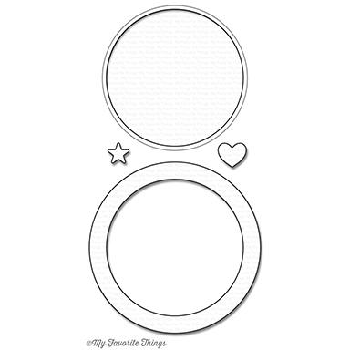 My Favorite Things - Circle Shaker Window & Frame die set