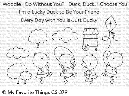 My Favorite Things - Just Ducky stamp & die bundle