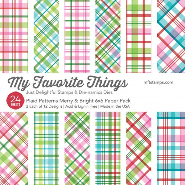 My Favorite Things - Plaid Patterns - Merry & Bright 6 x 6 Paper Pad
