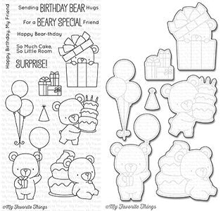My Favorite Things - Beary Special Birthday Stamp & Die Bundle