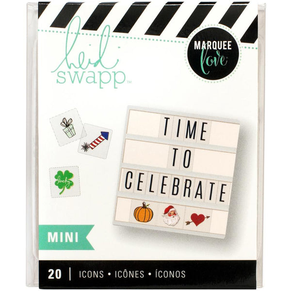 Heidi Swapp - Lightbox - Mini Inserts - Holiday Icons