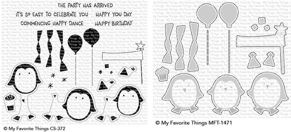 My Favorite Things - Party Penguins stamp & die bundle