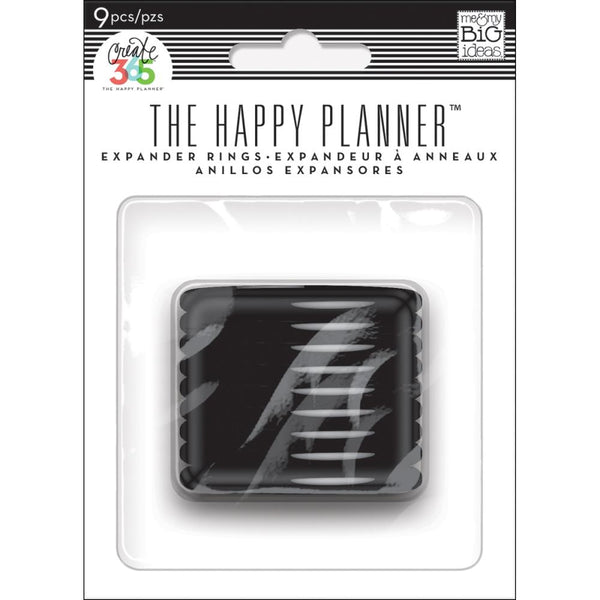 MAMBI - Create 365 - The Happy Planner - Expander Rings - Black