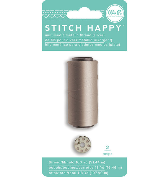 We R Memory Keepers - Stitch Happy - Thread - Metallic - Silver