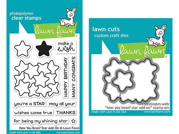 Lawn Fawn - How You Bean? - Star Add-On Stamp & Die Bundle