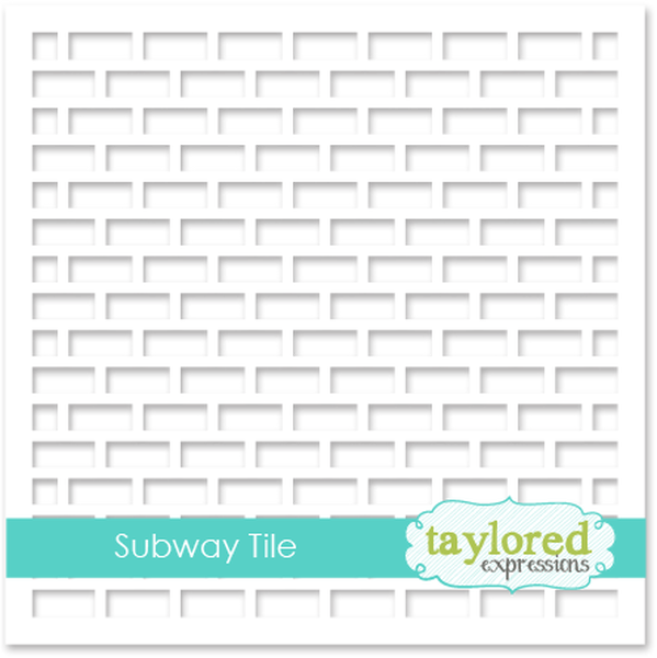 Taylored Expressions - 6x6 Stencil - Subway Tile