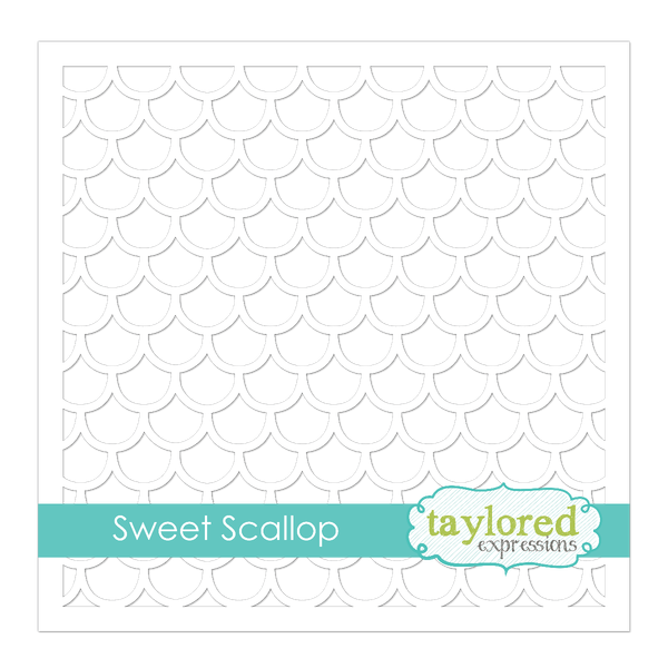 Taylored Expressions - 6x6 Stencil - Sweet Scallop
