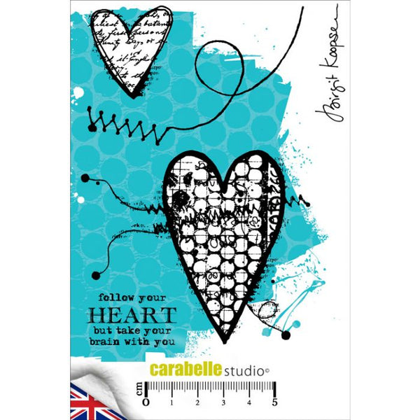 Carabelle Studio - A6 Cling Stamp - Brigit Koopsen - Follow Your Heart
