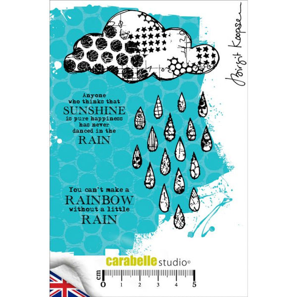 Carabelle Studio - A6 Cling Stamp - Birgit Koopsen - Dancing in the Rain
