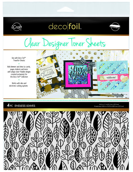 Therm O Web - Deco Foil - Clear Designer Toner Sheets - Endless Leaves