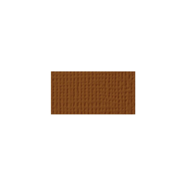 American Crafts - 12x12 Textured Cardstock - Truffle