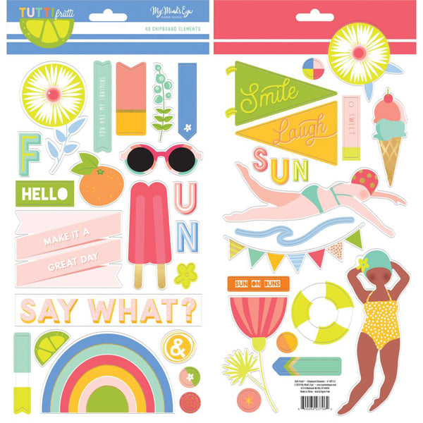 My Minds Eye - Tutti Frutti - Chipboard Elements