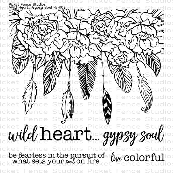 Picket Fence Studio - Wild Heart Gypsy Soul Stamp Set