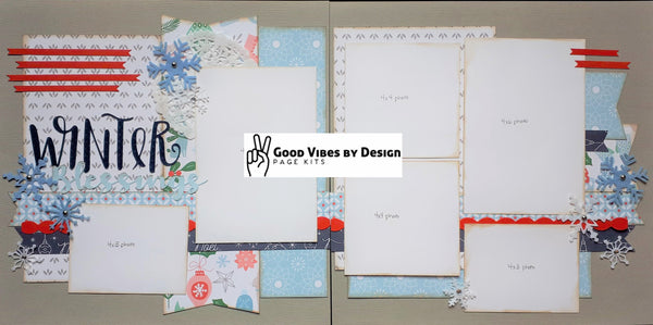 Good Vibes By Design - Winter Blessings - Page Kit