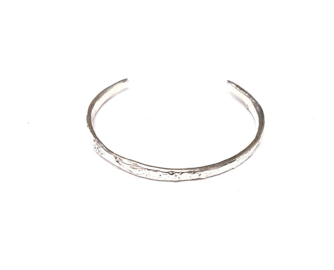 Dainty Silver or Bronze Metal Clay Cuffs