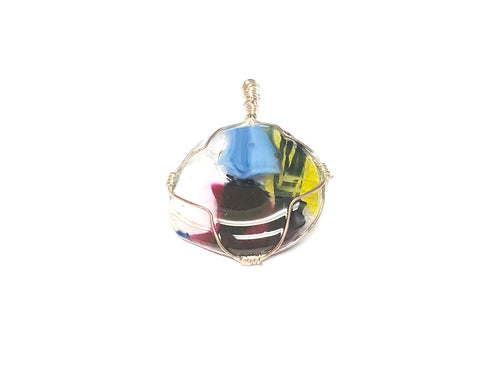 Fused Glass Pendant & Wire Wrap