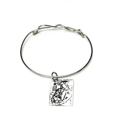 Image Transfer on Silver Metal Clay Charm & Bangle