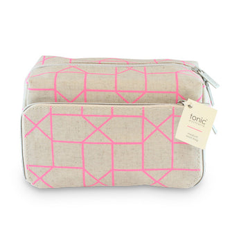 Medium Wash Bag Geo Pink