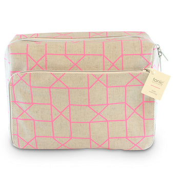 X-Large Wash Bag Geo Pink