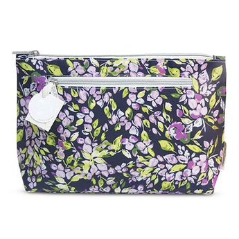 Large Cosmetic Bag Purple Mini Bell