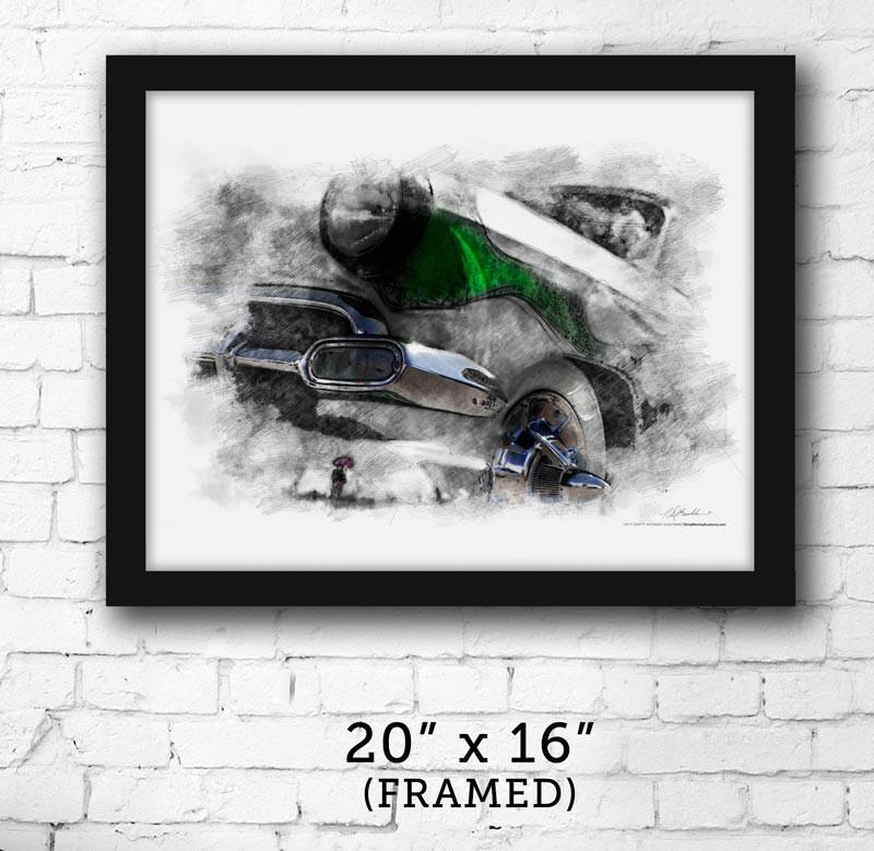 "FRAMED ""Soylent Green"" Hot Rod '54 Chev image print - Dirty Monkey Kustoms USA"