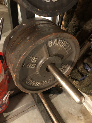 [STRONGMAN GARAGE SALE] 35lb Metal Plates (set of 5 - less than $0.50/lb)