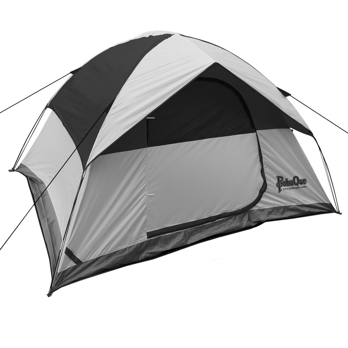 PahaQue Rendezvous 4 Person Dome Tent, Gray-Black