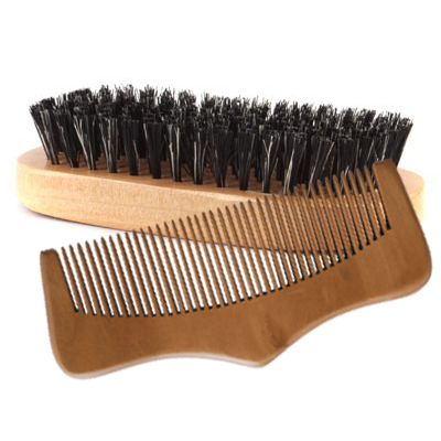 Beard Comb and Brush Set