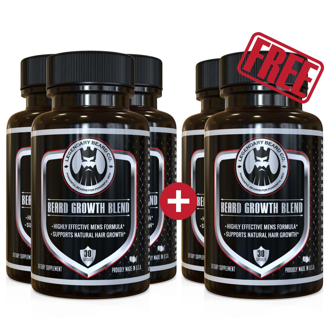 Legendary Beard Growth Blend Buy 3 + Get 2 Free