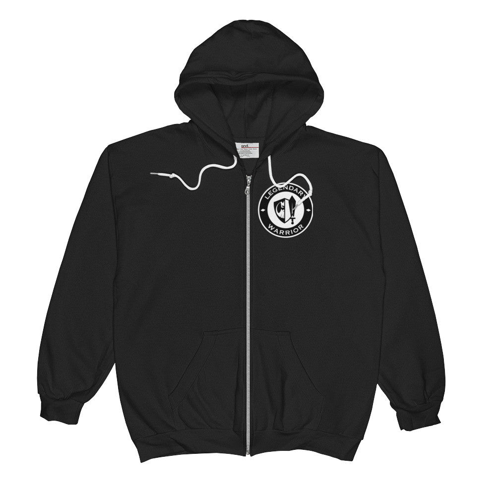 Legendary Man Warrior  Zip-Hoodie