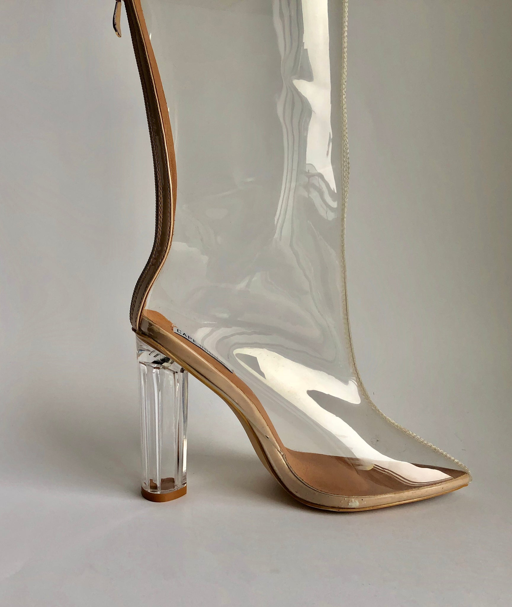 Cape Robbin Transparent Mid-Calf Boots