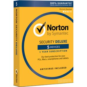 Norton Security Deluxe 2018 - 1-Year / 5-Device - UK/Europe - BlueJadeServices - Blue Jade Services