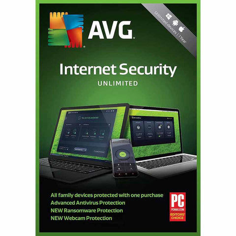 AVG Internet Security 2019 - 2-Year / 1-PC - Global -  ( Email Delivery ) - Blue Jade Services