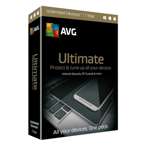 AVG Ultimate 2018- 1-Year / Unlimited Devices - Retail Box - Blue Jade Services