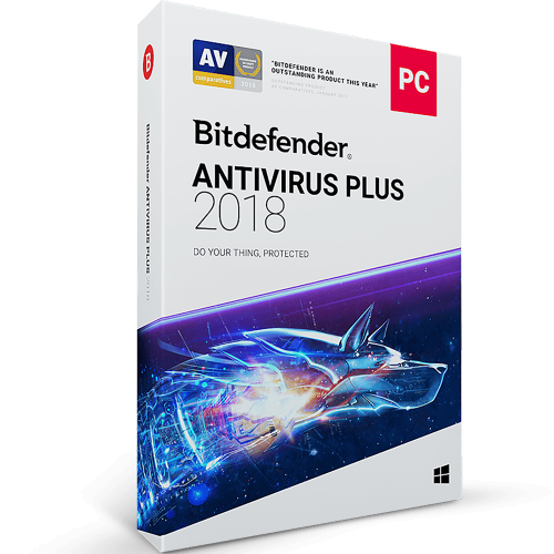 Bitdefender Antivirus Plus 2018 - 2-Years / 3-PC - BlueJadeServices - Blue Jade Services