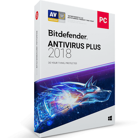 Bitdefender Antivirus Plus 2019 - 1-Year / 3-PC -  ( Email Delivery ) - Blue Jade Services